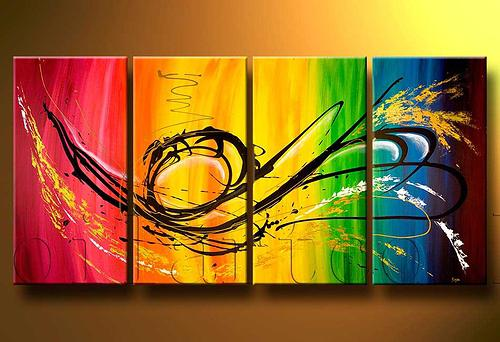 Spray Can Art Group Oil Painting Home Decorative
