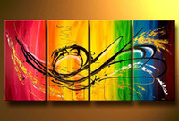 Wholesale Spray Can Art Group Oil Painting Home Decorative Painting Art Oil Paintings with frame