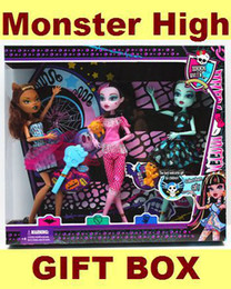 Wholesale 2013 NEW Fashion Hot Children s Monster High Dolls Articulated Fashion Toy For Kids Gir MYY2862