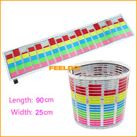 Wholesale 90cm cm Car Music rhythm lamp led sound activated equalizer Multi color flashing light Quality guaranteed