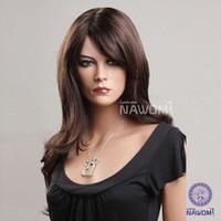 fiber hair - long brown wave Charming Glamorous Fiber women Wig Hair High quality fashion lady Wig Hair H9012Z