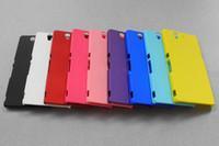 Ракушка масло Цены-Матовое прорезиненное масло для жесткого пластика Корпус с матовым покрытием для задней крышки для Sony Xperia Z L36i L36h
