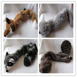 Wholesale High quality for fabric pet dog toy plush toy squeaker no suffing in body wild animal