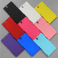 Wholesale New Hard Frosted Case For Sony Xperia Z Yuga C6603 L36h L36i Matte Skin Back Cover case