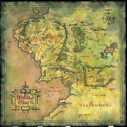 Wholesale The Lord Of The Rings Middle Earth Map Silk Poster