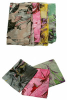 Wholesale 2013New Fashion Begonia Flower ink Style Cotton Neck Scarf Shawl