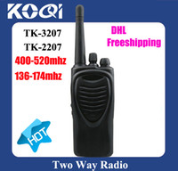 Wholesale lt DHL Freeshipping TK2207 VHF radios TK UHF walky talky mhz gt TK walkietalkie