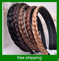 Wholesale Hot selling Hair Accessories Elasticity Serratula Weave Wig With Braids Hair Bands Headdress