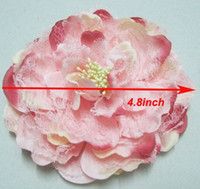 Lace big black hair bows - 4 Big Flowers with hair clips Baby Rose Flower Hair bow Peony Flower Girls Hairwear
