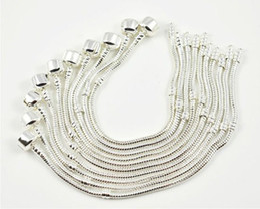 Wholesale Snake Chain Bracelets fit European Bead Silver Clasp Biagi Bracelet MM inches