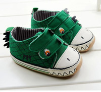 Wholesale Hot Children s Animal Cartoon Shoes Toddler Green Rubber Bottom Baby First Walker Shoes