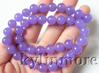 Wholesale 8SE08610a mm Lavender Jade Round Beads quot