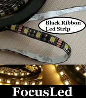 Wholesale 2014 Best Black Ribbon Waterproof Led Flexible Strip Light SMD Led M V Warm Pure Cool White