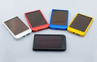Wholesale 5pcs New Arrival mAh Power Bank USB Solar Panel Charger Battery for MID MP3 PDA Phones hot