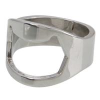 Wholesale Individuality Aluminum Alloy Finger Ring Beer Wine Bottle Opener J03398