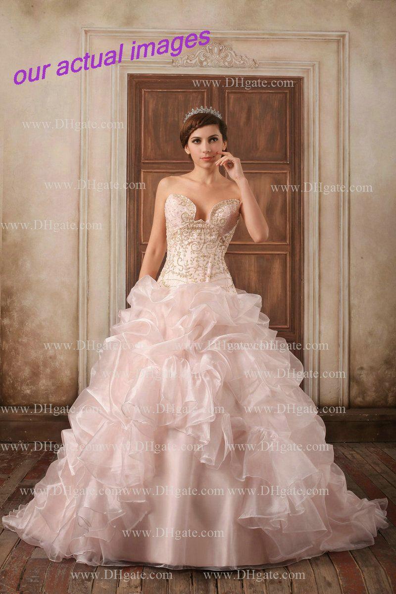 light pink wedding dresses cheap 84