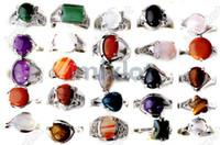 Wholesale 2013 NEWEST Mix Natural Stone Rings Assorted Ring Jewellery Fashion Jewelry STS01