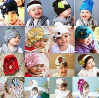 Wholesale Top Baby Cotton Beanie Hat Flowers Hat Toddler s Hats Girls Boy s kids Caps gifts