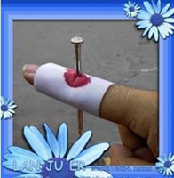 8-11 Years White Cloth Kids toys Magic Toy April fool Prank Trick Funny joke toy,hurt finger nail through finger toys 20pcs