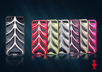 Wholesale Night Luminescence Fish Bone Aluminum Metal Hard Case Cover for iPhone G