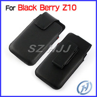Wholesale Leather Pouch for Blackberry Z10 Vertical Belt Clip Swivel Protective Phone Case Cover