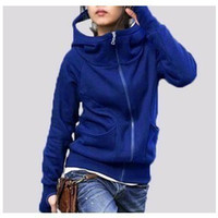 Wholesale women s cardigan long sleeve thickening with hood plus size sweatshirt warm leisure hoodies COLORS