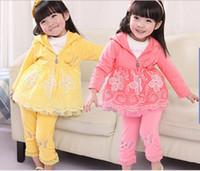children apparel - children clothes girls Outfits Paste disc three piece kids sets children apparel baby clothes set