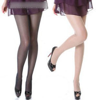 Wholesale women s Ultra thin silk stockings Sexy crystal D Pantyhose thin legs stockings COLOR COFFEE GREY NUDE