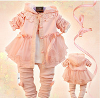 Girl children apparel - girls Outfits children clothes Paste disc three piece kids sets children apparel baby clothes set