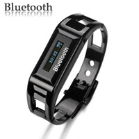 Wholesale Fashionable and Luxurious Metallic OLED Bluetooth Bracelet with Caller s ID Display and Vibrating Al