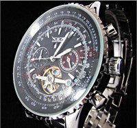 Fashion Men's Chronograph 2013 Luxury Mens 50mm Date Day Dive Automatic Watch Stainless Black Dial Wristwatch Men's Watches