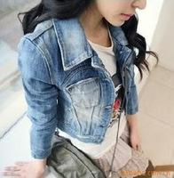 Wholesale women s fashion coat women s jean jacket denim outwear Size S M L