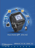 Wholesale watch phone Q9 Dual Sim Card Quad Band Bluetooth Touch Screen Watch Cell Phone