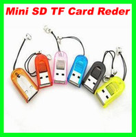 Wholesale Lowest price Tiny Micro SD T Flash TF Portable Signal Slot USB Keychain Memory Card
