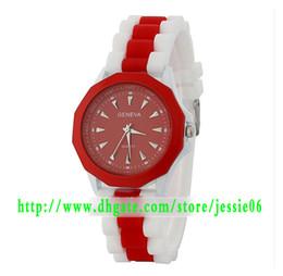 2013 Newest Fashion Geneva watches Double color strap silicone watch personality geneva unique quart