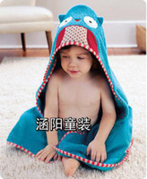 Wholesale 2013 NMew Arrival Children s Towels amp Robes cute animal modeling bathrobe baby towels
