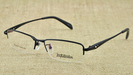 Wholesale black or gold silver color metal Titanium eyeglass frames mens men eye glasses half optical frame