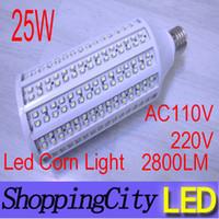 CRAZY PRICE E27 led corn light 110V 220V warm white 25W 420l...