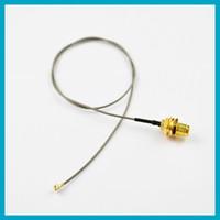 100pcs 40cm 1. 13 cable SMA Female Bulkhead to U. fl IPX RF Co...