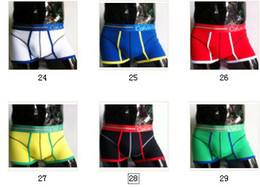 Wholesale New Style Men s Mixed Colors Underwear Mens Cotton Style Boxers Briefs
