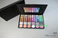 Wholesale 78 fulll color eyeshadow blush Emerald pink eyeshadow makeup palette