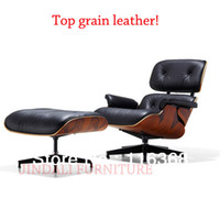 Genuine Leather chinese furniture - Eames Lounge Chair Full Chinese Top Grain Leather Sofa Classic furniture