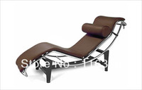 Wholesale Le Corbusier chaise lounge chair chinese top grain leather