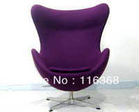 Wholesale Arne Jacobsen Egg Chair Fabric sofa Classic furniture fashion designed modern chair hanging egg chair pod chair ball chair cheap sky chair