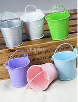 Wholesale Metal Favor Pail Candy Favour Gift Boxes Set of Wedding Favors