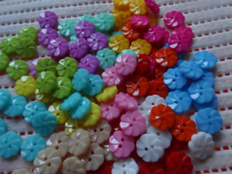 Wholesale 500x mix Bulk purchasing flower resin Button baby DIY doll appliques sewing scrapbook Cardmaking