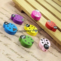 Wholesale Cute Wooden Beetle Beads For Jewelry DIY