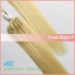 Wholesale s quot Micro Ring Loop Hair Extensions Remy blonde Human Hair Straight Tiptop