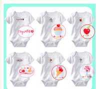 Wholesale baby rompers many designs onsies boys and girls one piece jumpers triangle Romper body jumpsuit D4