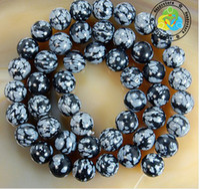 Wholesale mm DIY natural snow Flake Jasper Round loose Beads A quality200pcs